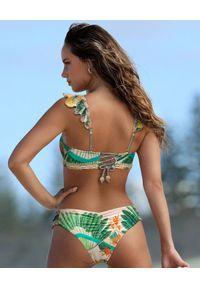 DEL MAAR - Top od bikini Khuyana. Kolor: zielony. Materiał: tkanina. Wzór: haft, aplikacja