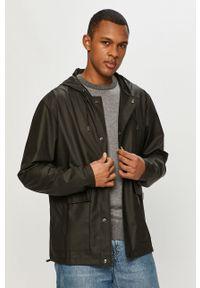Rains - Kurtka przeciwdeszczowa 1826 Short Hooded Coat. Okazja: na co dzień. Kolor: czarny. Styl: casual