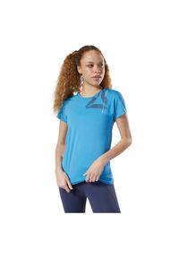 Koszulka damska Reebok Activchill Graphic DY8181. Materiał: materiał, dzianina, nylon, poliester, elastan. Sport: fitness