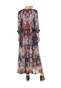 Camilla - CAMILLA - Wzorzysta sukienka Nouveau Nights. Kolor: czerwony. Materiał: jedwab. Wzór: kwiaty, aplikacja. Długość: maxi