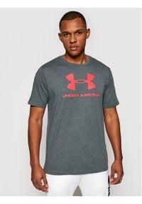 Under Armour T-Shirt Ua Sportstyle Logo 1329590 Szary Loose Fit. Kolor: szary