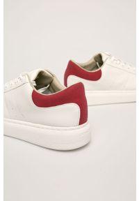 Białe sneakersy Jack & Jones z cholewką, na sznurówki