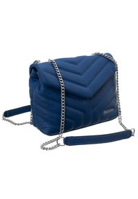 Niebieska torebka Badura pikowana