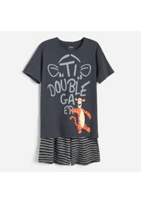Reserved - Dwuczęściowa piżama z Tygryskiem - Szary. Kolor: szary