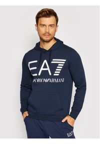 EA7 Emporio Armani Bluza 6KPM69 PJBWZ 1554 Granatowy Regular Fit. Kolor: niebieski