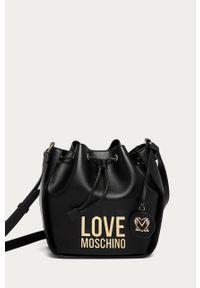 Czarna torebka Love Moschino z aplikacjami, na ramię, mała