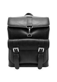Plecak na laptopa MCKLEIN Hagen 15.6 cali Czarny. Kolor: czarny. Materiał: skóra. Styl: elegancki