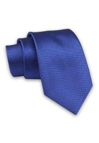 Alties - Chabrowy Elegancki Męski Krawat -ALTIES- 7cm, Stylowy, Klasyczny, Granatowy, w Drobny Wzór. Kolor: niebieski. Materiał: tkanina. Styl: klasyczny, elegancki
