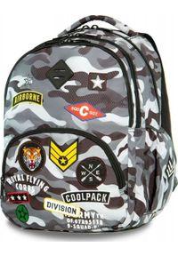Patio Plecak szkolny Coolpack Cp Szare Moro szary. Kolor: szary. Wzór: moro
