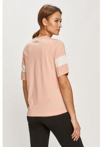 Różowa bluzka Fila na co dzień, z nadrukiem