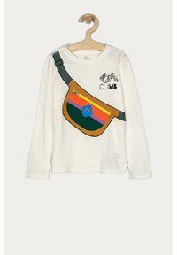 Biała koszulka z długim rękawem GAP na co dzień, casualowa