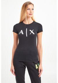 T-shirt Armani Exchange w kolorowe wzory, na co dzień, casualowy