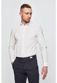 Biała koszula Selected na co dzień, casualowa, długa