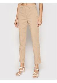 Lauren Ralph Lauren Spodnie materiałowe 200812287002 Brązowy Regular Fit. Kolor: brązowy. Materiał: materiał