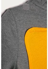 Szara bluza rozpinana GAP z kapturem, na co dzień, z nadrukiem