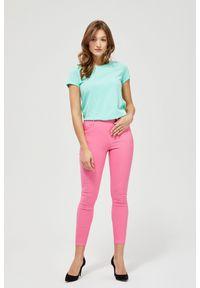 Różowe spodnie MOODO długie