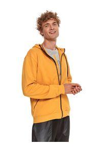 TOP SECRET - Bluza rozpinana strukturalna. Kolor: żółty. Materiał: tkanina. Długość rękawa: długi rękaw. Długość: długie. Sezon: jesień