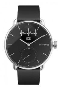 WITHINGS - Smartwatch Withings Scanwatch 38mm czarny. Rodzaj zegarka: smartwatch. Kolor: czarny. Materiał: koronka. Styl: klasyczny