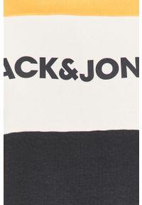 Żółta bluza nierozpinana Jack & Jones na co dzień, casualowa