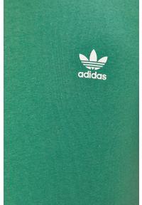 Zielony t-shirt adidas Originals na co dzień, casualowy