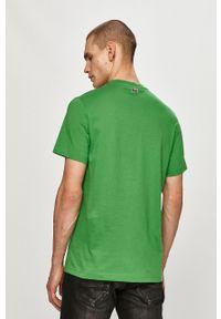 Lacoste - T-shirt. Okazja: na co dzień. Kolor: zielony. Materiał: dzianina. Wzór: aplikacja. Styl: casual