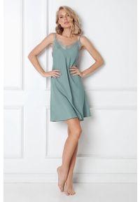 Miętowa piżama Aruelle gładkie