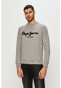 Pepe Jeans - Bluza bawełniana Harold. Okazja: na co dzień. Kolor: szary. Materiał: bawełna. Styl: casual