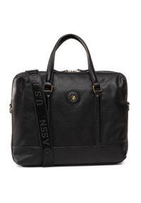 Czarna torba na laptopa U.S. Polo Assn