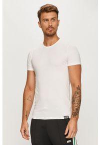 Diesel - T-shirt. Okazja: na co dzień. Kolor: biały. Materiał: dzianina. Styl: casual
