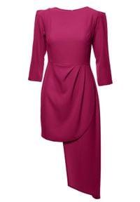 Sukienka wizytowa elegancka, asymetryczna