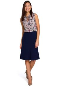 Niebieska spódnica rozkloszowana MOE elegancka