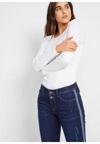 Miękkie dżinsy w krótszej długości, STRAIGHT bonprix ciemnoniebieski. Kolor: niebieski. Długość: krótkie