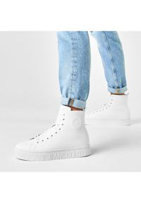 Białe sneakersy Versace Jeans Couture