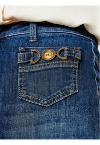 Niebieskie jeansy bootcut Elisabetta Franchi