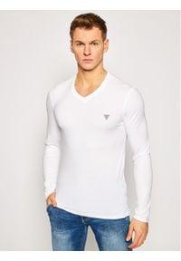 Guess Longsleeve M1RI08 J1311 Biały Super Slim Fit. Kolor: biały. Długość rękawa: długi rękaw