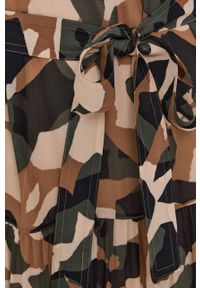 BOSS - Boss - Sukienka. Materiał: tkanina. Długość rękawa: długi rękaw. Typ sukienki: rozkloszowane