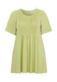 Zielona tunika Zhenzi elegancka, krótka