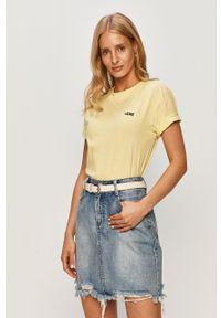 Żółta bluzka Vans casualowa, z okrągłym kołnierzem, na co dzień #5