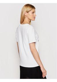 Trussardi Jeans - Trussardi T-Shirt 56T00357 Biały Regular Fit. Kolor: biały