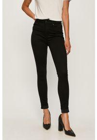 Czarne jeansy TOMMY HILFIGER z podwyższonym stanem