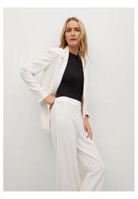 mango - Mango Spodnie materiałowe Palachin 87056321 Biały Regular Fit. Kolor: biały. Materiał: materiał