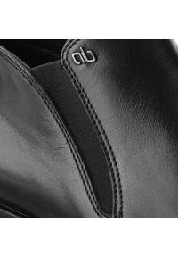Czarne buty wizytowe Aldo Bruè z cholewką, eleganckie