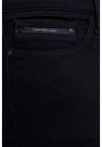 Czarne jeansy Calvin Klein Jeans z aplikacjami