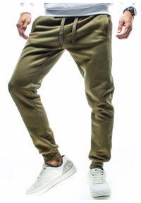 Brązowe spodnie dresowe Recea