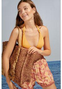 Women Secret - women´secret - Torebka. Kolor: beżowy. Dodatki: z frędzlami. Rodzaj torebki: na ramię