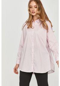 Różowa koszula Answear Lab z długim rękawem, na co dzień, długa, wakacyjna