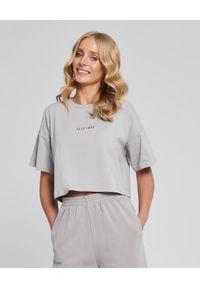 SELF LOVE - Szary t-shirt New York. Kolor: szary. Materiał: bawełna, dresówka. Wzór: nadruk