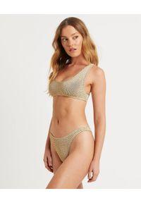 BOND-EYE AUSTRALIA - Top od bikini Malibu. Kolor: złoty. Materiał: materiał