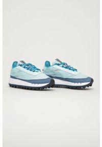 Niebieskie sneakersy Reebok Classic na sznurówki, na obcasie