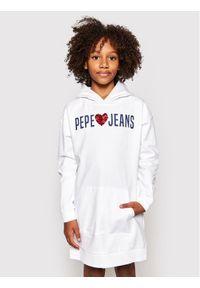 Pepe Jeans Sukienka codzienna Harper PG951495 Biały Regular Fit. Okazja: na co dzień. Kolor: biały. Typ sukienki: proste. Styl: casual